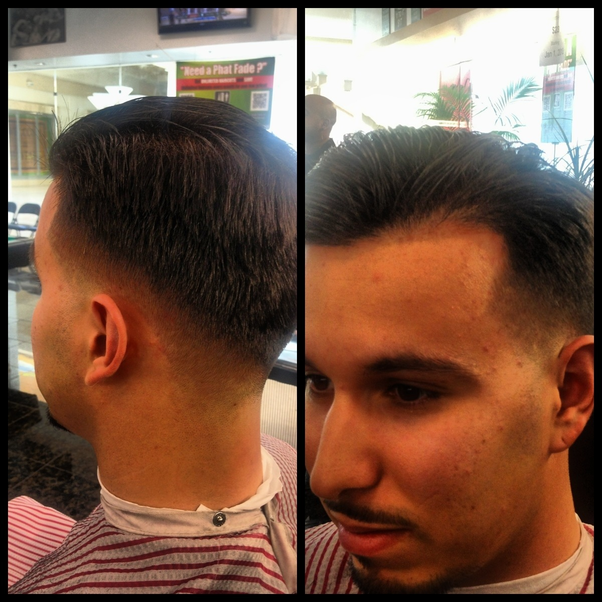 Comb Over Fade With Hard Line | LONG HAIRSTYLES